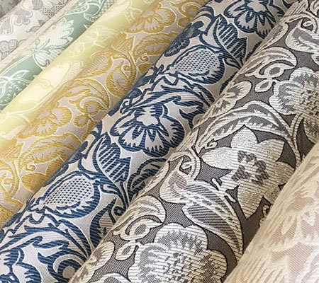 Rolls of interior fabric