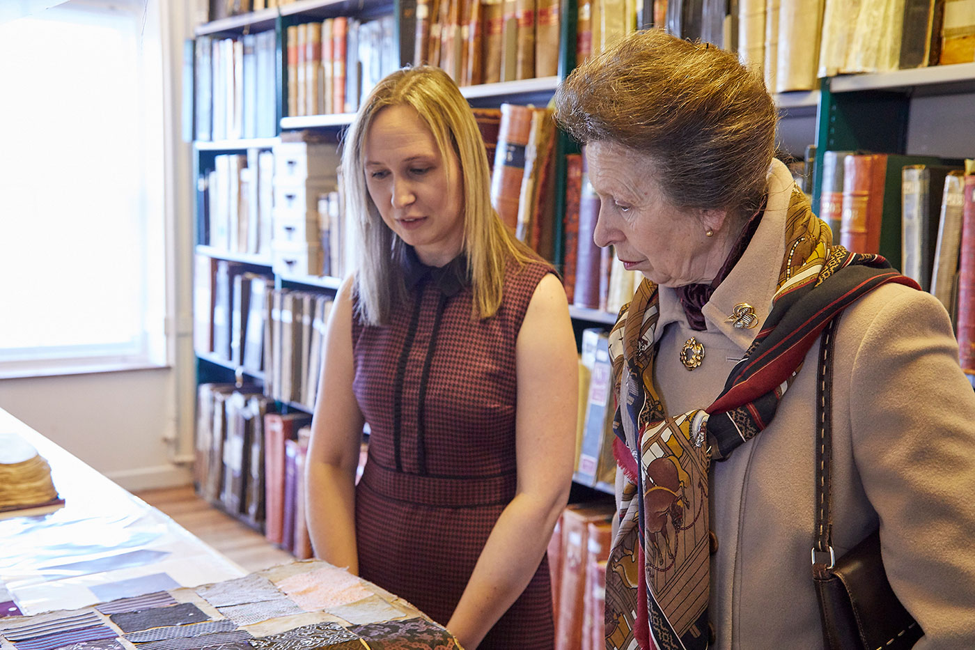 HRH The Princess Royal visiting David Walters Fabrics